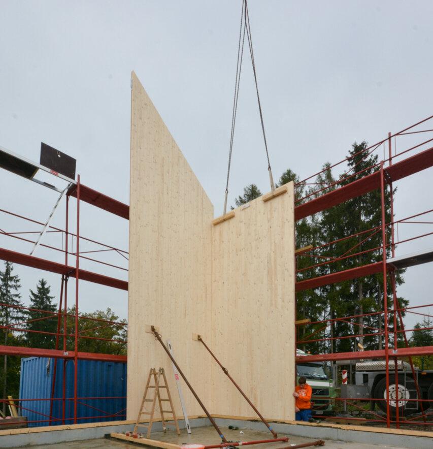 Holzhaus: 2 Tage auf der Baustelle!